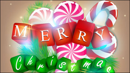 Link toA gorgeous christmas elements background 01 - vector material