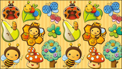 Link toThe lovely insect plant 01 - vector