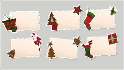 Link toChristmas elements stickers 02 - vector material