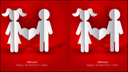 Link toValentine label elements 04 - vector material
