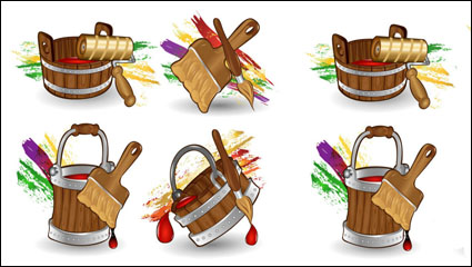 Link toCartoon paint bucket - vector
