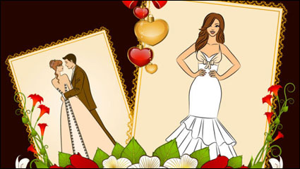 Link toWedding postcards 05 - vector material