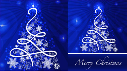 Link toChristmas blue background 02 - vector material