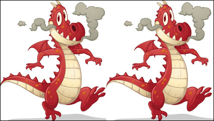 Link toCartoon dragon image 02 - vector material