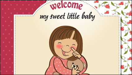 Link toCartoon baby card 01 - vector material