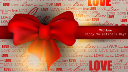 Link toThe exquisite valentine background - vector material