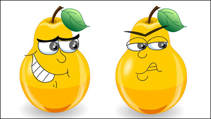 Link toThe cute cartoon pears expression - vector material