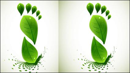 Link toGreen leaf shape border 01 - vector material