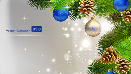Link toThe exquisite christmas ball background 01 - vector material