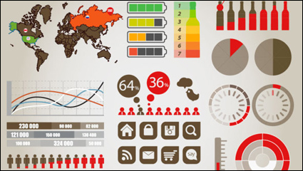 Data Graphics Charts - vector material