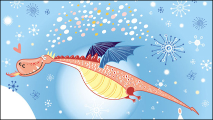 Link toThe cartoon dragon image 06 - vector material
