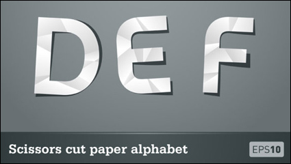 Paper-cut letters 01 - Vector material