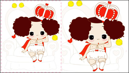 ddung confused doll vector material