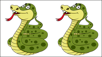 Link toHand-drawn cartoon snake 04 - vector material