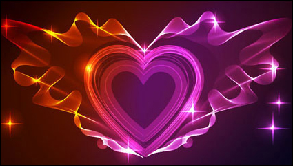 Link toValentine gorgeous light 01 - vector material