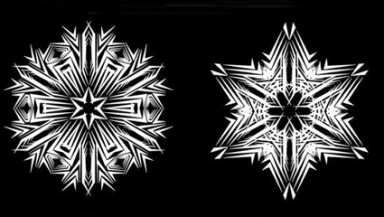Link toBlack-and-white pattern 01 - vector material