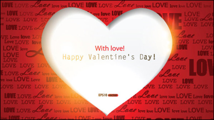 Link toBeautiful valentine card 02 - vector material