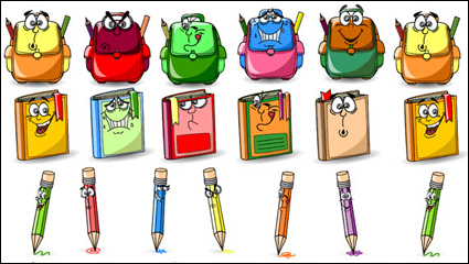 Link toCute cartoon stationery image - vector material