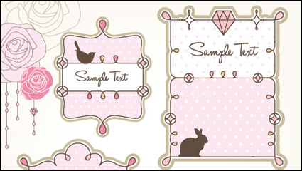 Link toCartoon cute lace 02 - vector material
