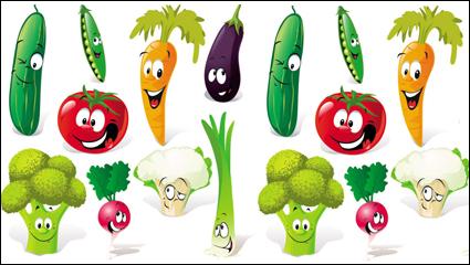 Link toCartoon vegetables expression 01 - vector material