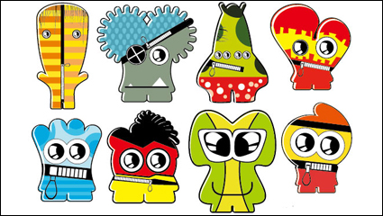 Link toCartoon little monsters 02 - vector material