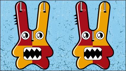 Link toFunny cute cartoon 05 - vector material