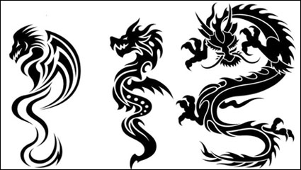 Link toDragon-shaped patterns 07 - vector material