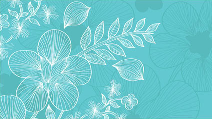 Link toLines flowers 03 - vector material