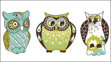 Link toCartoon owl illustration - vector material