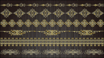 Link toGold lace pattern 02 - vector material