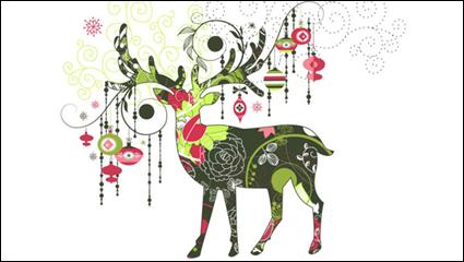 Link toBeautiful christmas pattern 01 - vector material