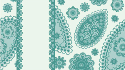 Exquisite pattern background 01 - vector material
