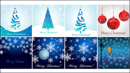 Christmas element material 01 - vector material