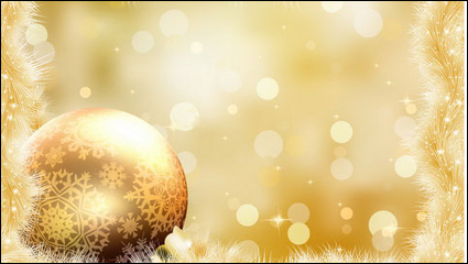 Gorgeous Christmas background 05 - vector material