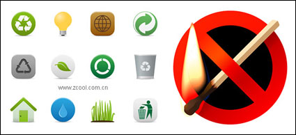Link toEnvironmental protection and the prohibition of fire material vector icon