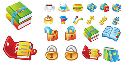 Link toBooks food icon vector material lock link