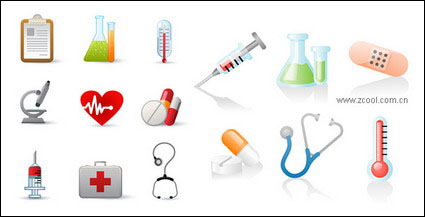 Link toContainers, thermometers, microscopes vector material