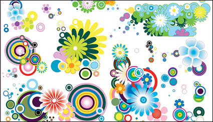 Link toThe trend of several lovely flowers element vector material