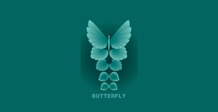 Link toMaterial leaves and butterflies vector