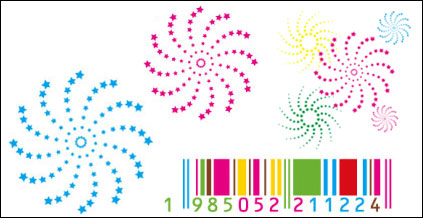 Link toRotating stars of color vector bar material