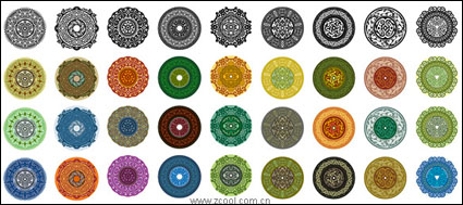 Link toVariety of classical elements in a circular pattern vector material-1