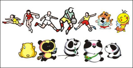 Link toShinkichiro daily necessities, such as figures of animals vector