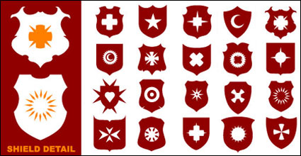 Link toA wide variety of shield shapes vector material