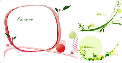 Link toGreen leaf pattern vector ma