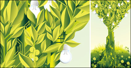 Green theme vector