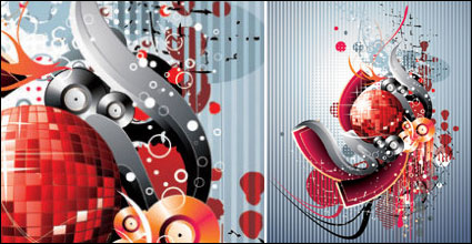 Disco, nightclubs, dance halls design elements vector