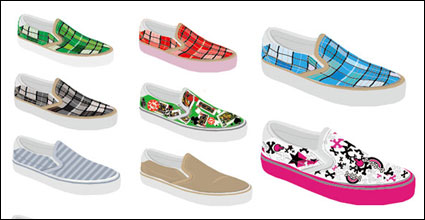 Canvas shoes, shoes vector