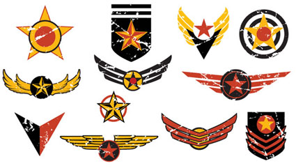 Flight badges vector
