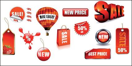 Link toLabel, tag, half price, strawberry vector