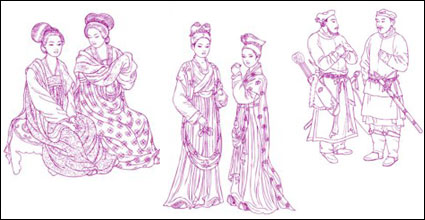 Link toAncient chinese fashion design vector
